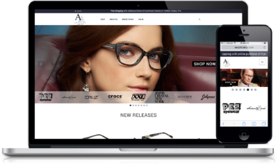 A&A Optical B2B Responsive E-commerce Website