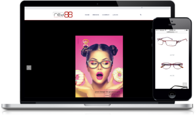 Red88 Eyewear B2B Responsive E-commerce Website
